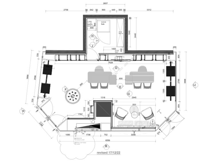 意大利手表Panerai上海IFC店效果图+施工图
