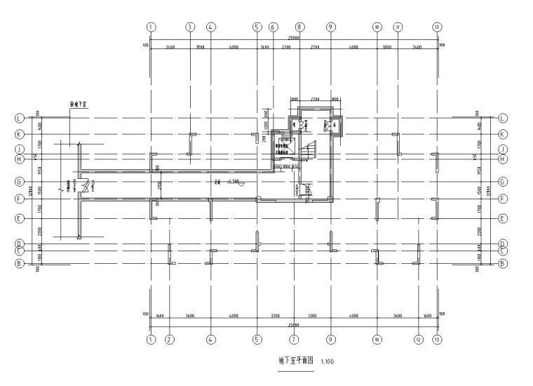 地下室平面图