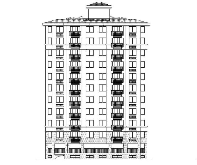 现代风安置房住宅建筑施工图(12-14栋)