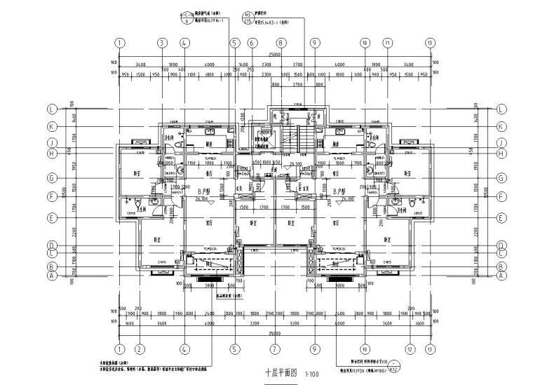 十层平面图
