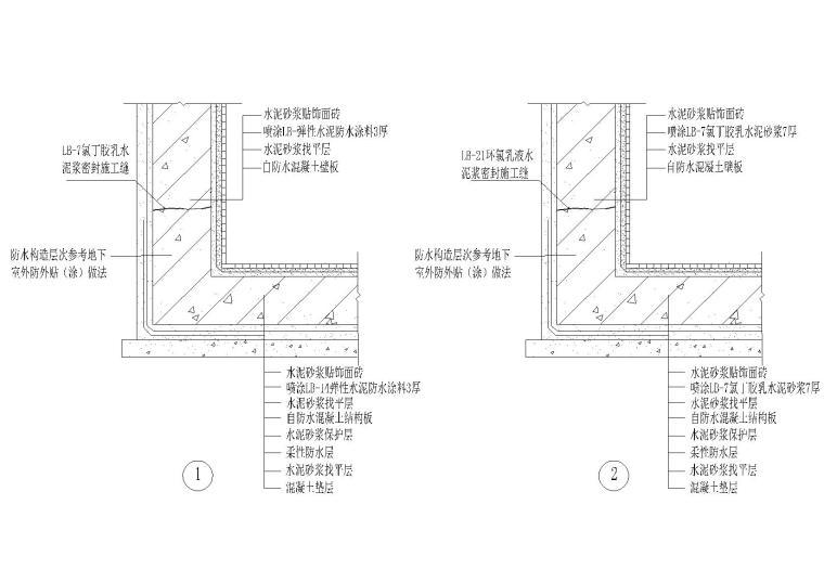 外墙,水池防水节点(外墙,蓄水池防水等)