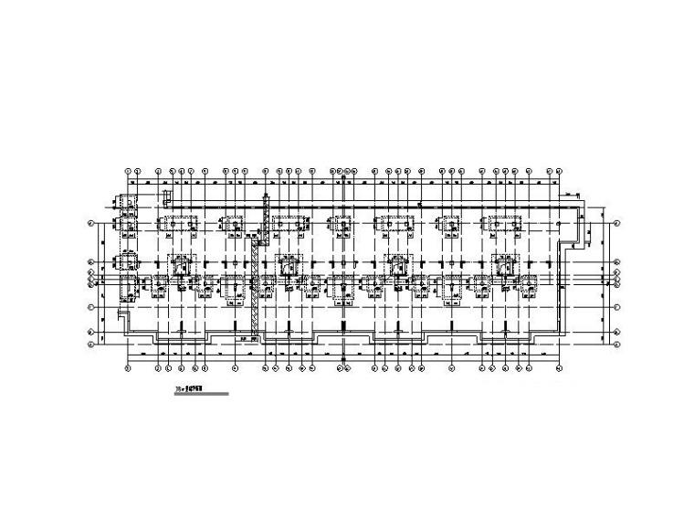4层叠拼别墅框架剪力墙结构施工图2017