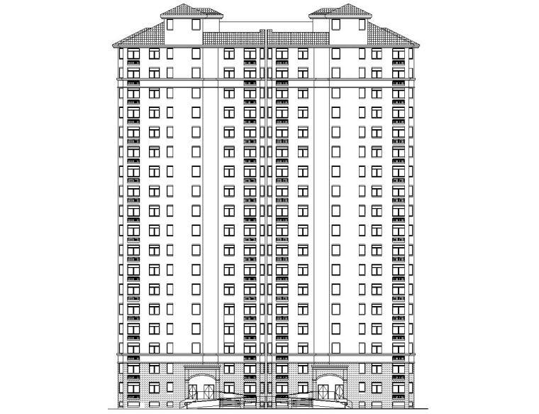现代风格安置房住宅建筑施工图(1-3栋)
