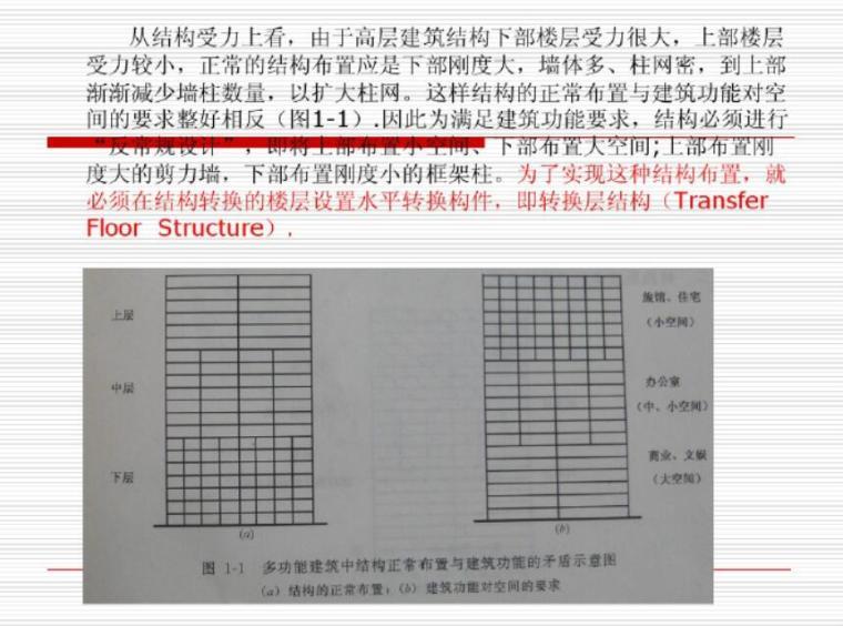 高层建筑转换层桁架转换层设计(PDF)