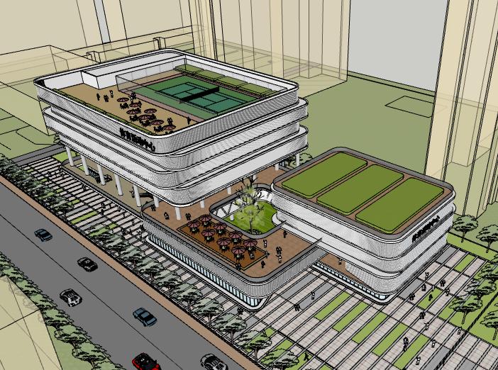 合肥新站区体育中心建筑模型设计