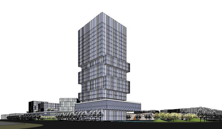 鹽城高新區智能終端產業園建筑模型 2019