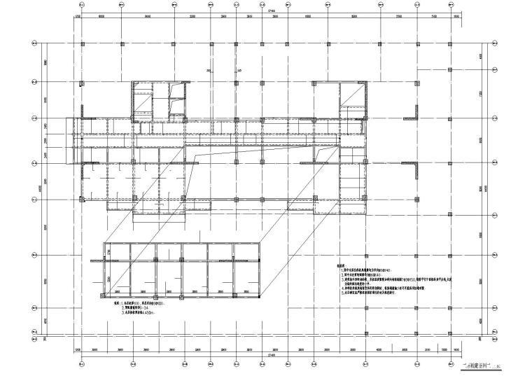 十二层框剪结构综合楼结构施工图纸