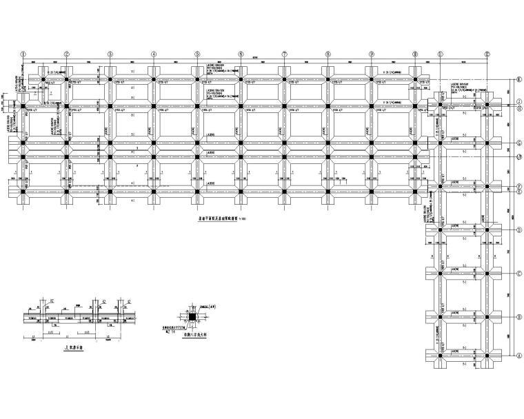 某五层综合办公楼混凝土结构施工图(CAD)