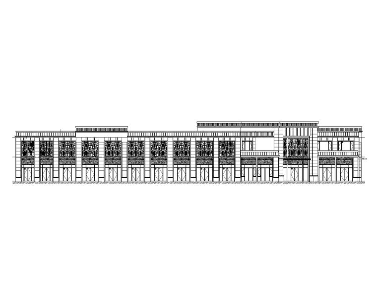 2层商业办公楼建筑施工图2017