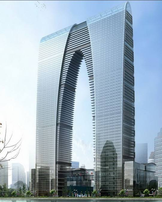 苏州东方之门刚性连体超高层结构设计
