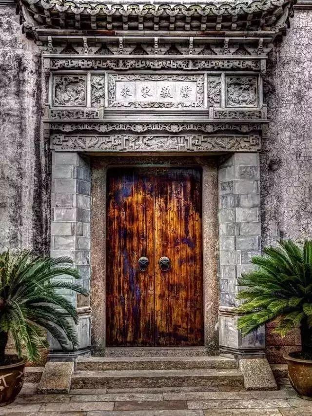 中国古建|门、门墩、门环、门钉、斗拱...