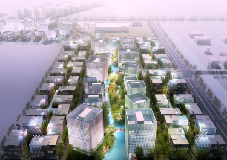 [上海]现代风格产业园商业建筑方案