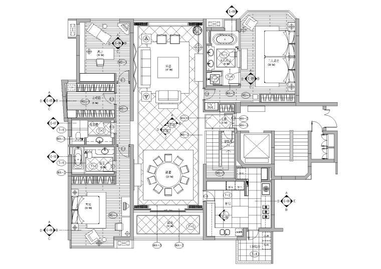[上海]梁志天_董生私宅别墅装修项目施工图