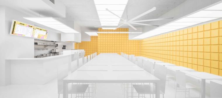 澳洲的日风料理拉面饺子馆设计效果图+JPG