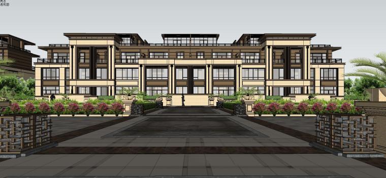 新亚洲别墅建筑模型设计 2019年