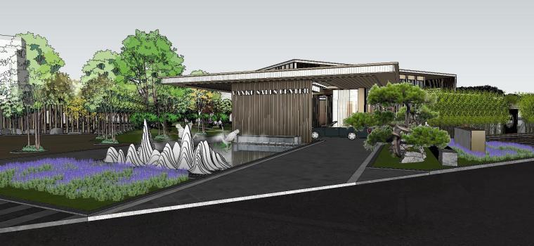 万科售楼处示范区建筑模型设计 2019年
