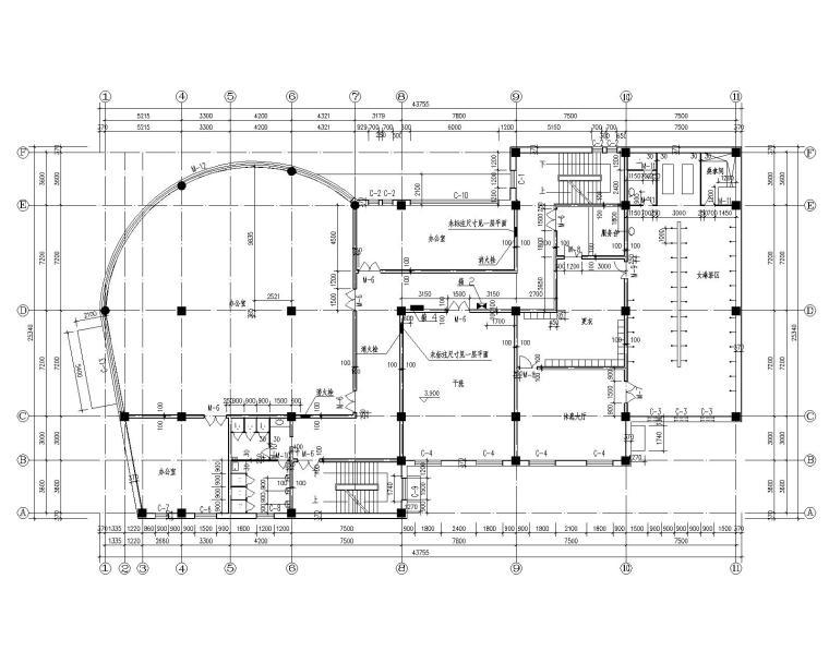 四层别墅混凝土结构施工图(CAD含建筑图)