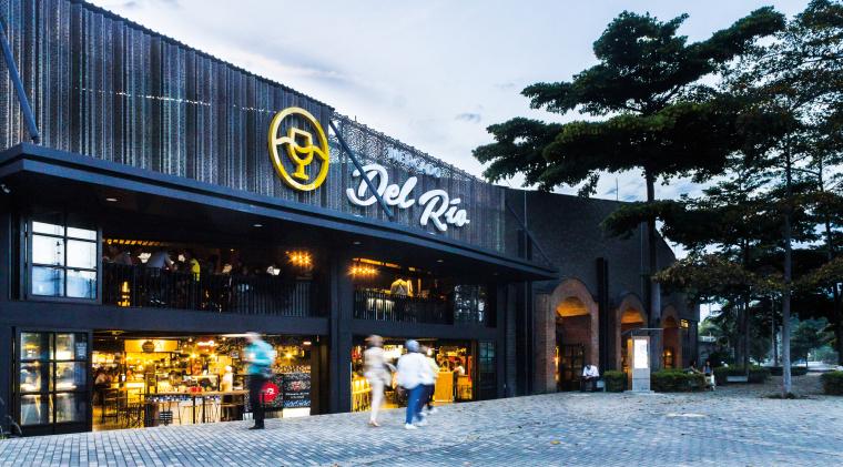 茶楼餐厅效果图资料下载-哥伦比亚MercadoDelRio餐厅设计效果图