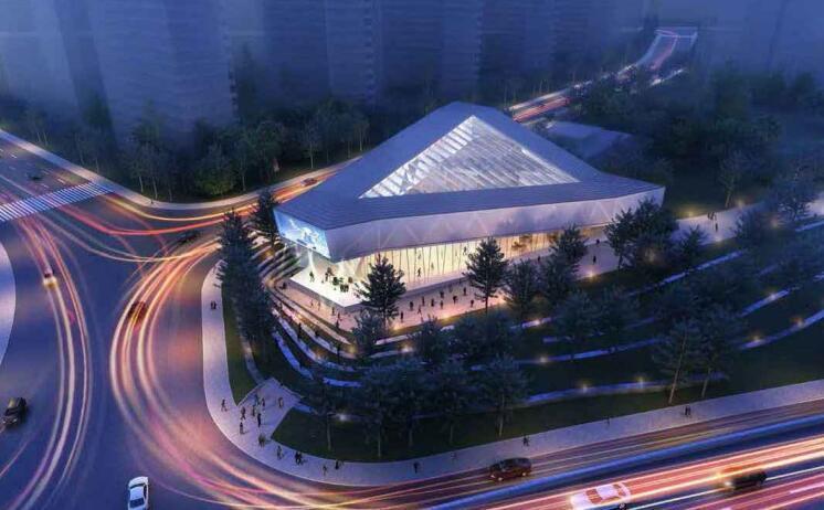 艺术中心建筑幕墙招标图2015_玻璃铝板幕墙