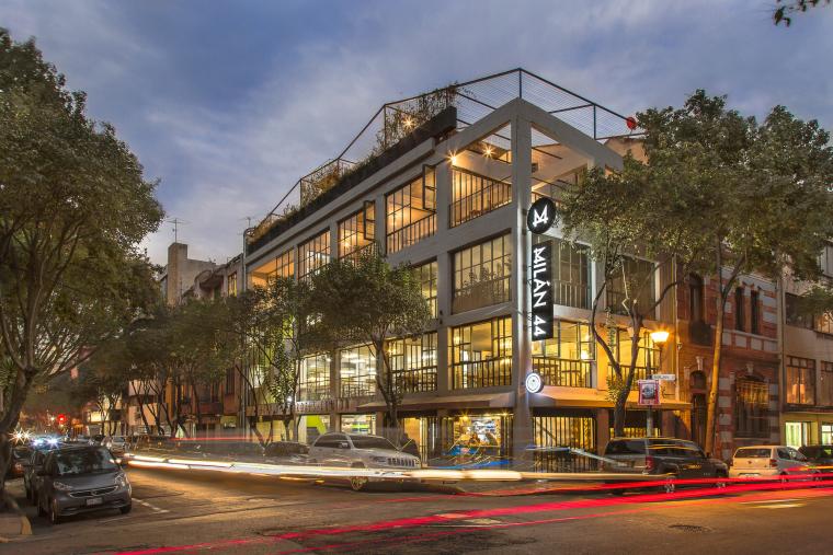 墨西哥城Milán44号商业空间改造设计+JPG