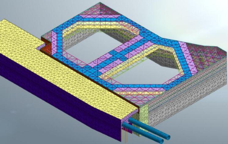 地下连续墙两墙合一顺作法基坑支护设计方案