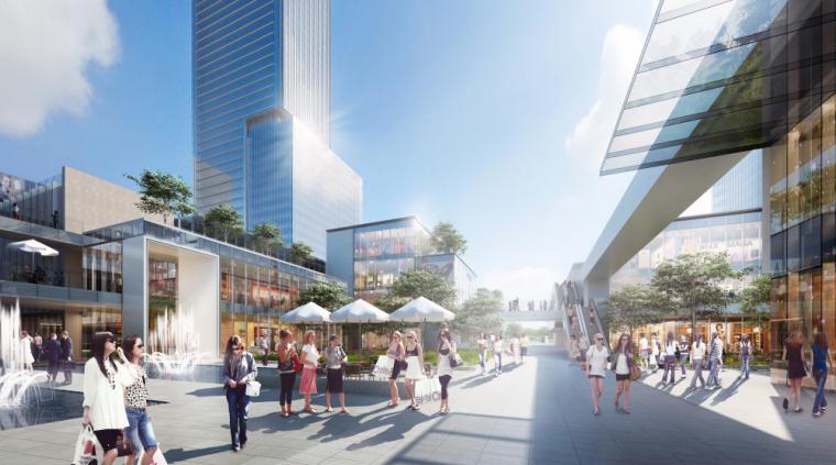 [浙江]现代风格商业综合体建筑模型方案一
