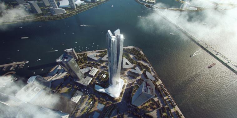 [广州]国际金融中心建筑模型设计