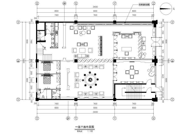 茶楼餐厅效果图资料下载-超美新中式古典禅意茶楼会所施工图+效果图