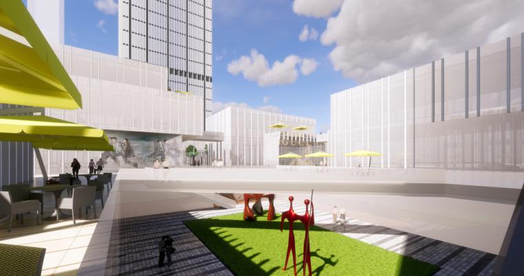 现代风格京文商业综合体建筑模型设计