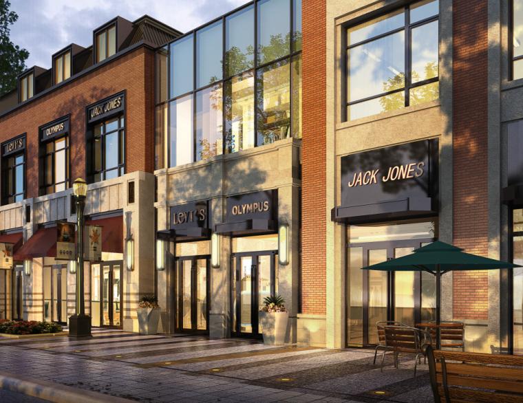 金地新古典风格商业街建筑模型设计