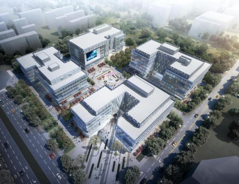 [上海]现代风格企业办公建筑项目方案设计