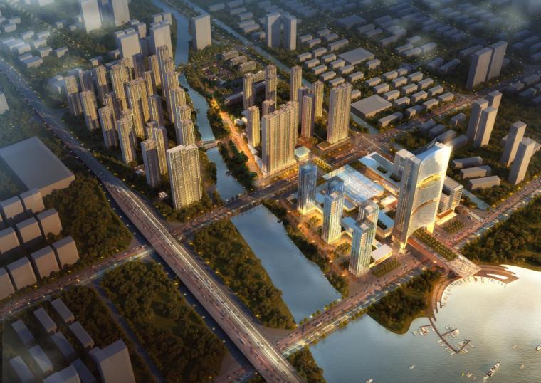 [浙江]现代风格商业综合体建筑模型方案二