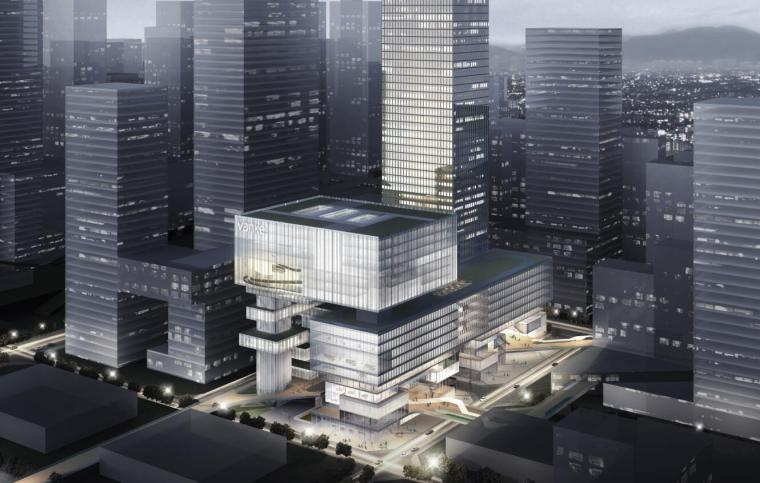[广东]万科深圳湾超级总部基地中标建筑方案