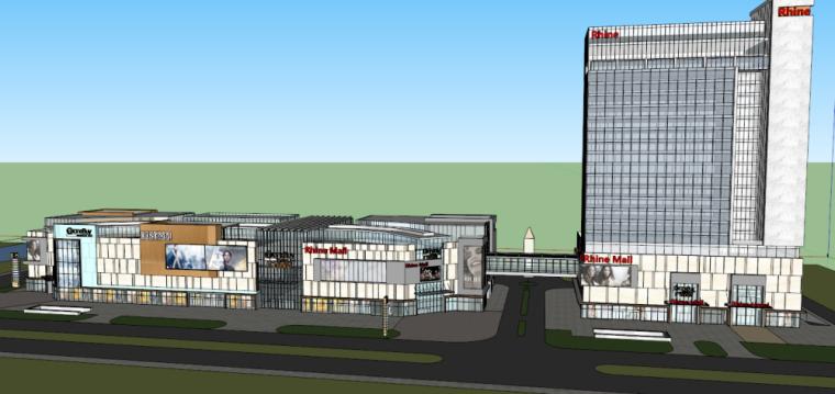 [湖南]现代风格酒店商业建筑模型设计