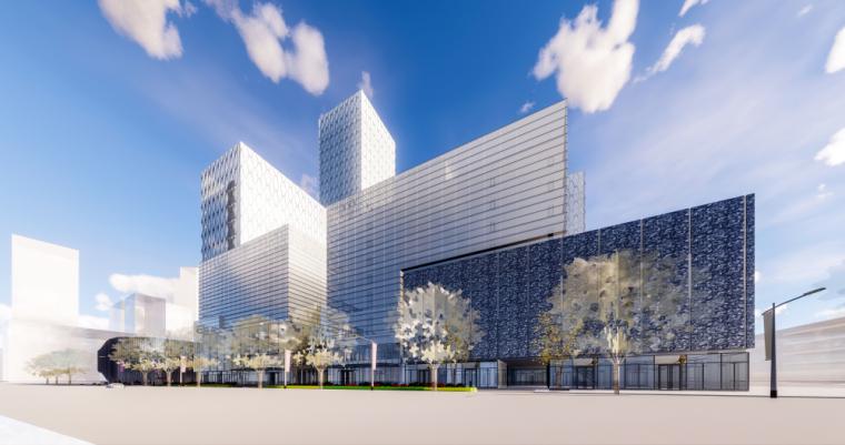 [广西]现代风中心商业综合体建筑模型