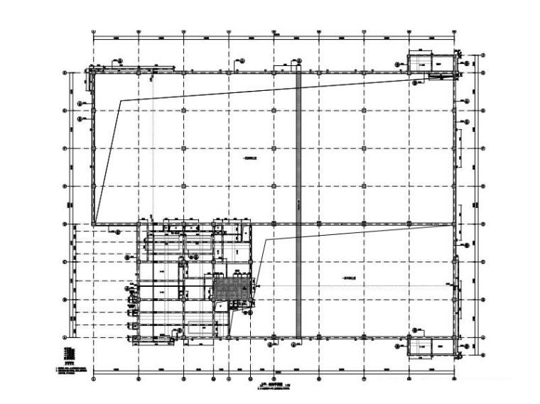 2层球类馆钢混框架结构施工图2015