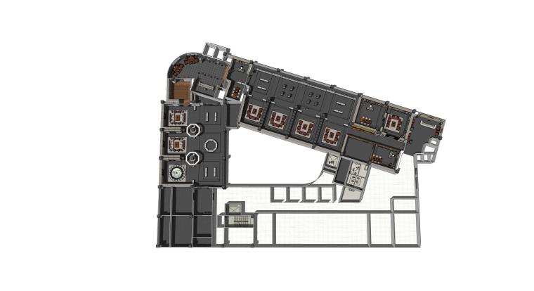 美术馆中式家居展厅装修设计SU模型