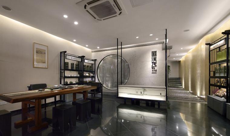 青砖黛瓦马头墙沃龙茶馆设计效果图+JPG图纸