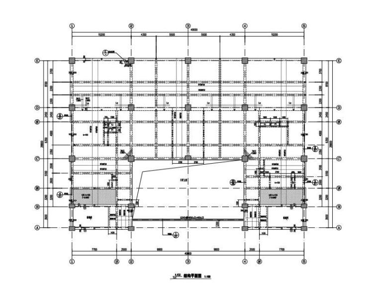绿建 7层某体校图文信息中心结构施工图2015