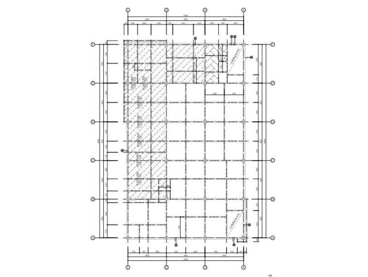 2层框架结构学校食堂结构施工图2015_含建筑