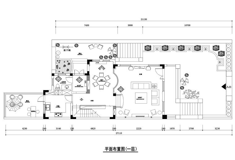 400平方米美式混搭风格联体别墅装修施工图