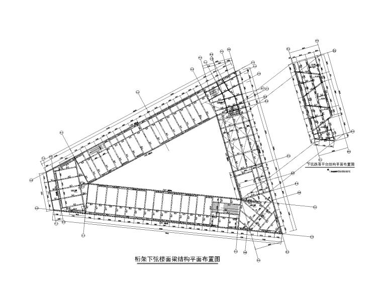 [上海]三角形2层艺术中心钢结构施工图_建筑