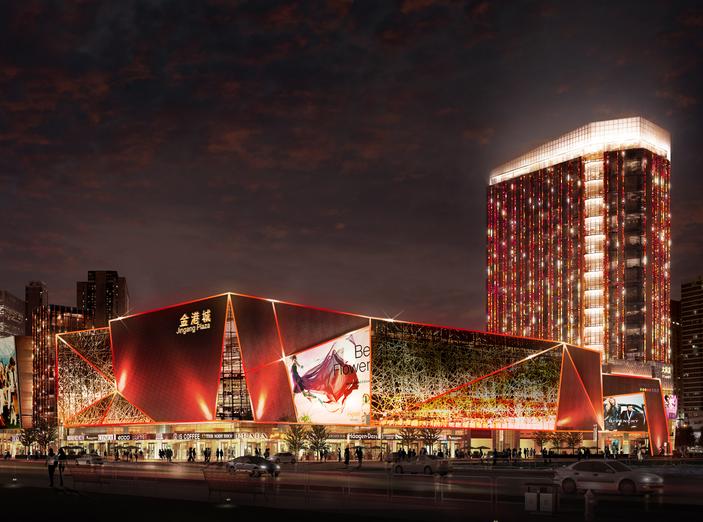 长乐金港城现代高层商业综合体建筑模型设计