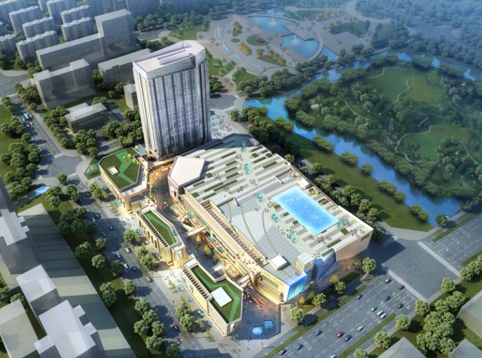 長樂金港城現代高層商業綜合體設計文本+CAD