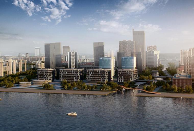 [上海]黄浦江沿岸地块商业办公建筑方案