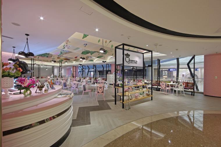 茶楼餐厅效果图资料下载-南京·女王下午茶餐厅设计效果图+JPG图纸