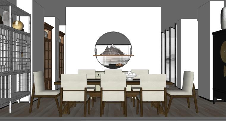 家具卖场空间装修设计SU模型