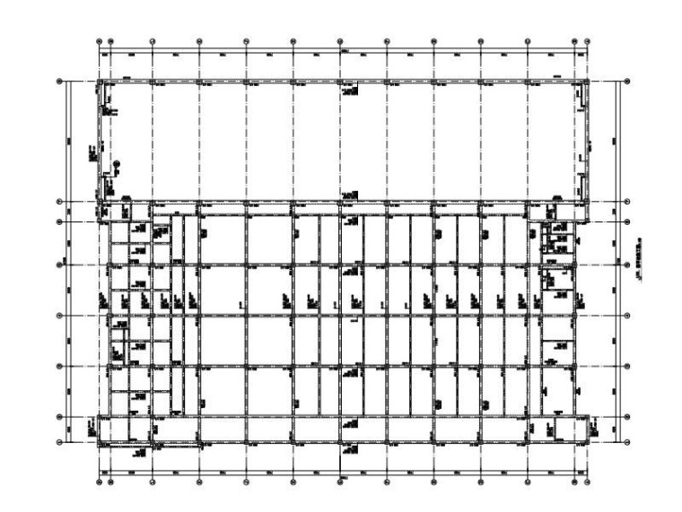 2层射击馆网球馆框架结构施工图2015