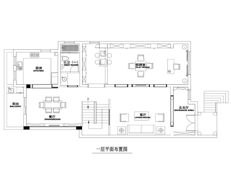 500平米新古典主义风格联体别墅装修施工图