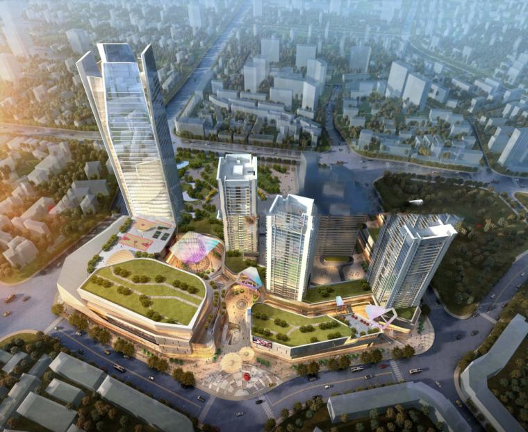 云南大理云路中心AB地块商业综合体建筑模型